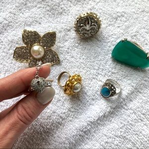 Jewelry - Super fun cocktail rings — set!